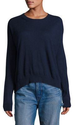 Vince Long Sleeves Cashmere & Linen Pullover $265 thestylecure.com