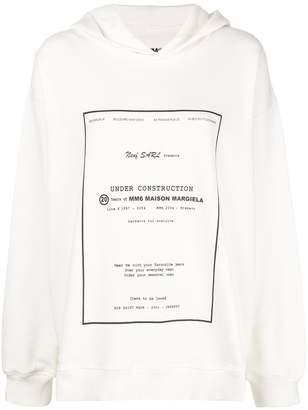 MM6 MAISON MARGIELA oversized logo print hoodie