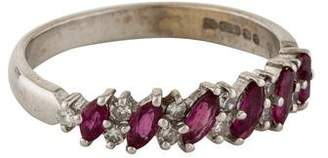 Ring Ruby & Diamond Band