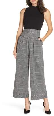 Chelsea28 Glen Plaid Jumpsuit