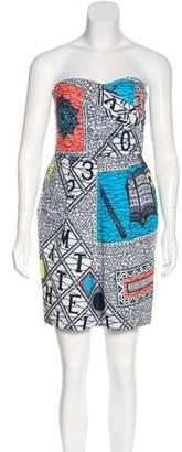 Matthew Williamson Strapless Printed Dress