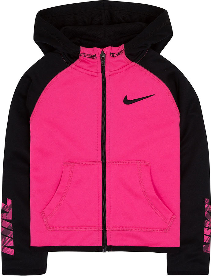 Nike Long-Sleeve Therma Zip Hoodie - Girls 4-6x