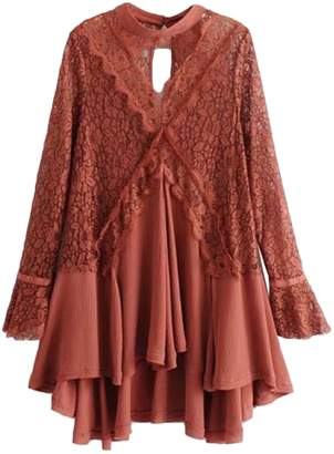 Goodnight Macaroon 'Merle' Frilly Lace Crochet Tunic (3 Colors)