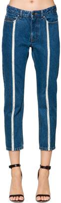 Diesel Black Gold Straight Denim Jeans W/ Raw Cut Detail