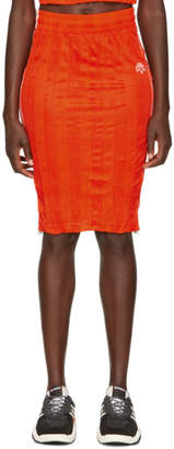 adidas by Alexander Wang Orange Track Skirt