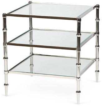 One Kings Lane Kayley 3-Shelf Side Table - Nickel