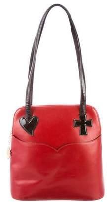 Christian Lacroix Grained Leather Shoulder Bag