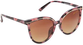 Kenneth Jay Lane Black & Rose Tortoiseshell Cat-Eye Sunglasses
