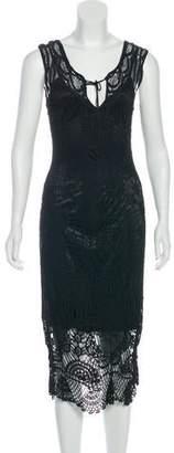 Sue Wong Knit Midi Dress