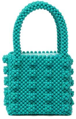 Urban Expressions Beaded Top Handle Mini Tote Bag
