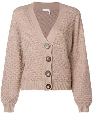 See by Chloe textured chunk-knit cardigan