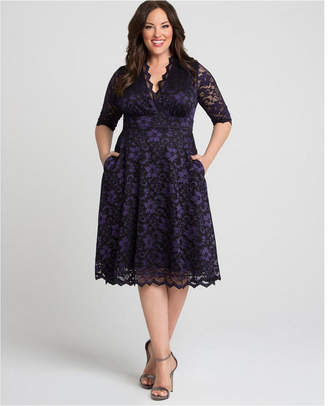 Kiyonna Women Plus Size Mon Cherie Lace Dress