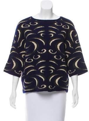 Diane von Furstenberg Patterned Oversize Sweater