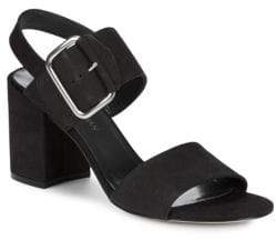 Stuart Weitzman City Leather Ankle Strap Sandals