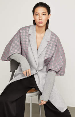 BCBGMAXAZRIA Houndstooth-Trimmed Coat