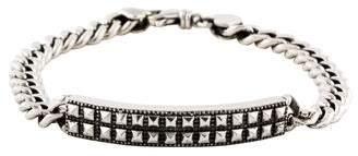King Baby Studio Pyramid ID Curb Chain Bracelet