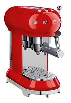 Smeg Ecf01Rdau Espresso Pump Coffee Machine - Red