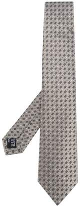 Giorgio Armani dot and rectangle necktie