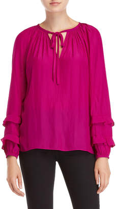 Ramy Brook Anna Ruffle Sleeve Top