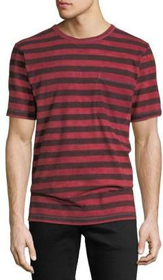 Hudson Men's Striped Pocket T-Shirt