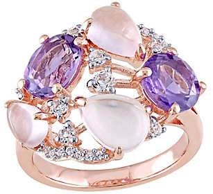 QVC Sterling 5.10 cttw Multi-gemstone Cocktail Ring