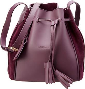 Longchamp Penelope Soft Leather & Suede Bucket Bag