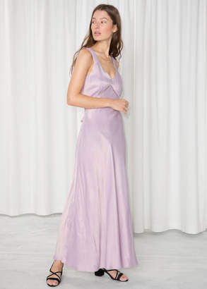 And other stories Satin Maxi Dress