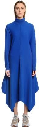 Stella McCartney Draped Wool Turtleneck Dress