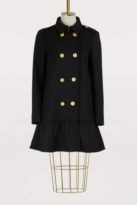 RED Valentino Clothilde wool coat with ruffles