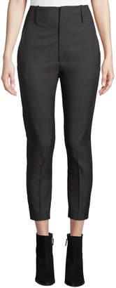 Etoile Isabel Marant Noah High-Rise Cropped Tonal-Check Trousers