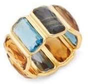 Ippolita Rock Candy 18K Yellow Gold Rectangular Gemstone Ring