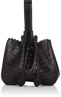 Alaia Women's Bracelet Micro Leather Bucket Bag