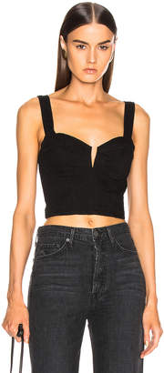 GRLFRND Ariel Bralette Crop Top in City By Night | FWRD