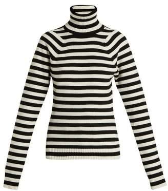 Haider Ackermann Invidia Striped Wool Blend Roll Neck Sweater - Womens - White Multi