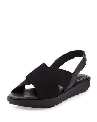 Eileen Fisher Trek Crisscross Wedge Sandal $69 thestylecure.com
