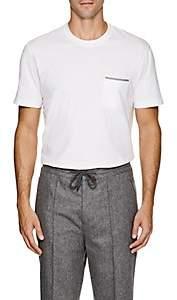 Brunello Cucinelli Men's Cotton Jersey Pocket T-Shirt - White