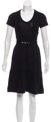Mayle Belted A-Line Dress