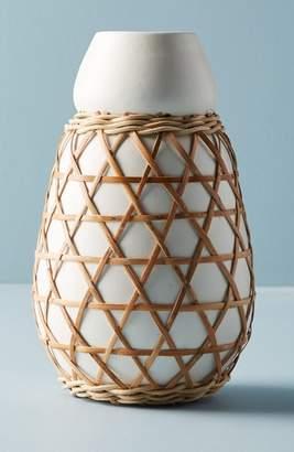 Anthropologie Woven Grass Vase