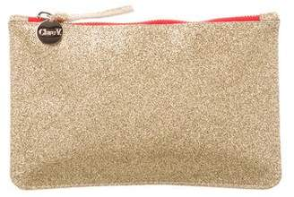 Clare Vivier Glitter Zip Pouch