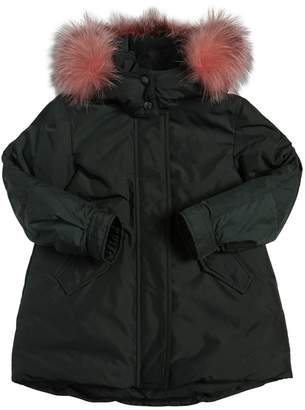 Moncler Hihiura Nylon W/ Fox Fur Down Jacket