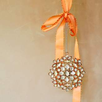 Graham and Green Rhinestone Floral Ball Decoration