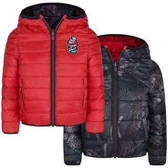 Ikks IKKSBoys Red & Navy Reversible Down Jacket