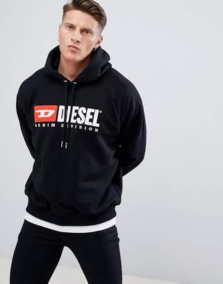 Diesel S-Division Industry Logo Hoodie Black