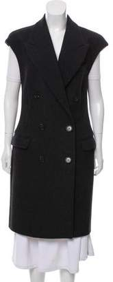 Michael Kors Double-Breasted Longline Vest