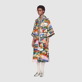 Gucci Hawaiian print linen oversized jacket