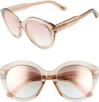 d93cbea8aef7 Tom Ford Rosanna 54mm Round Cat Eye Sunglasses