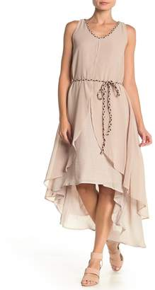 Papillon Sleeveless Layered High/Low Shift Dress