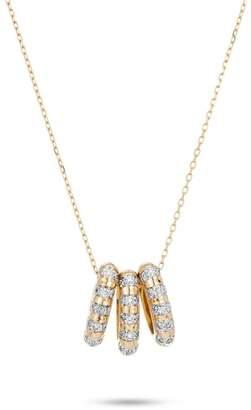Adina 3-Diamond Striped-Beads Necklace