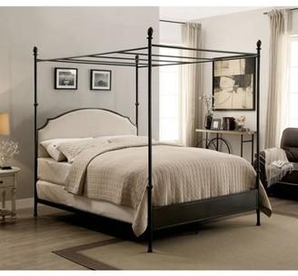 Furniture of America Gaston Twin Canopy Bed, Gun Metal