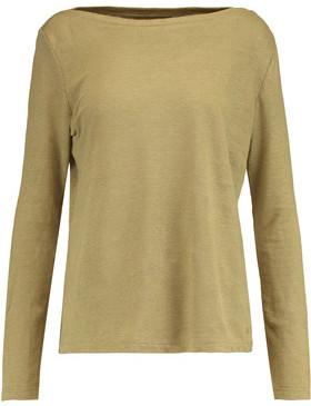 Petit Bateau Slub Linen-Jersey Top $129 thestylecure.com